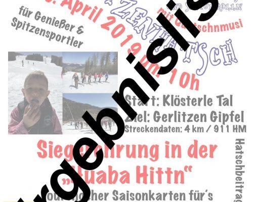 Ergebnisliste: 2. Gerlitzenhatsch 6.4.2019