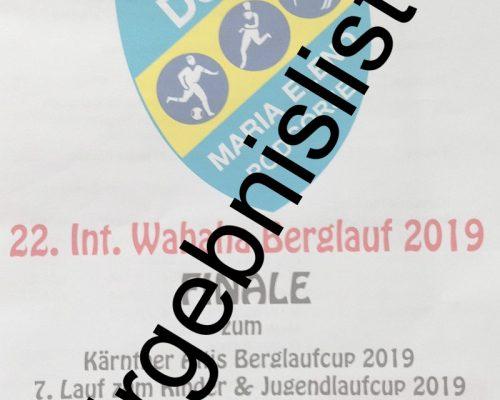 22. Int. Wahaha Berglauf 2019